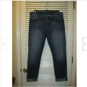 Kut from the Kloth Sz 14 Ankle Straight Leg Jeans